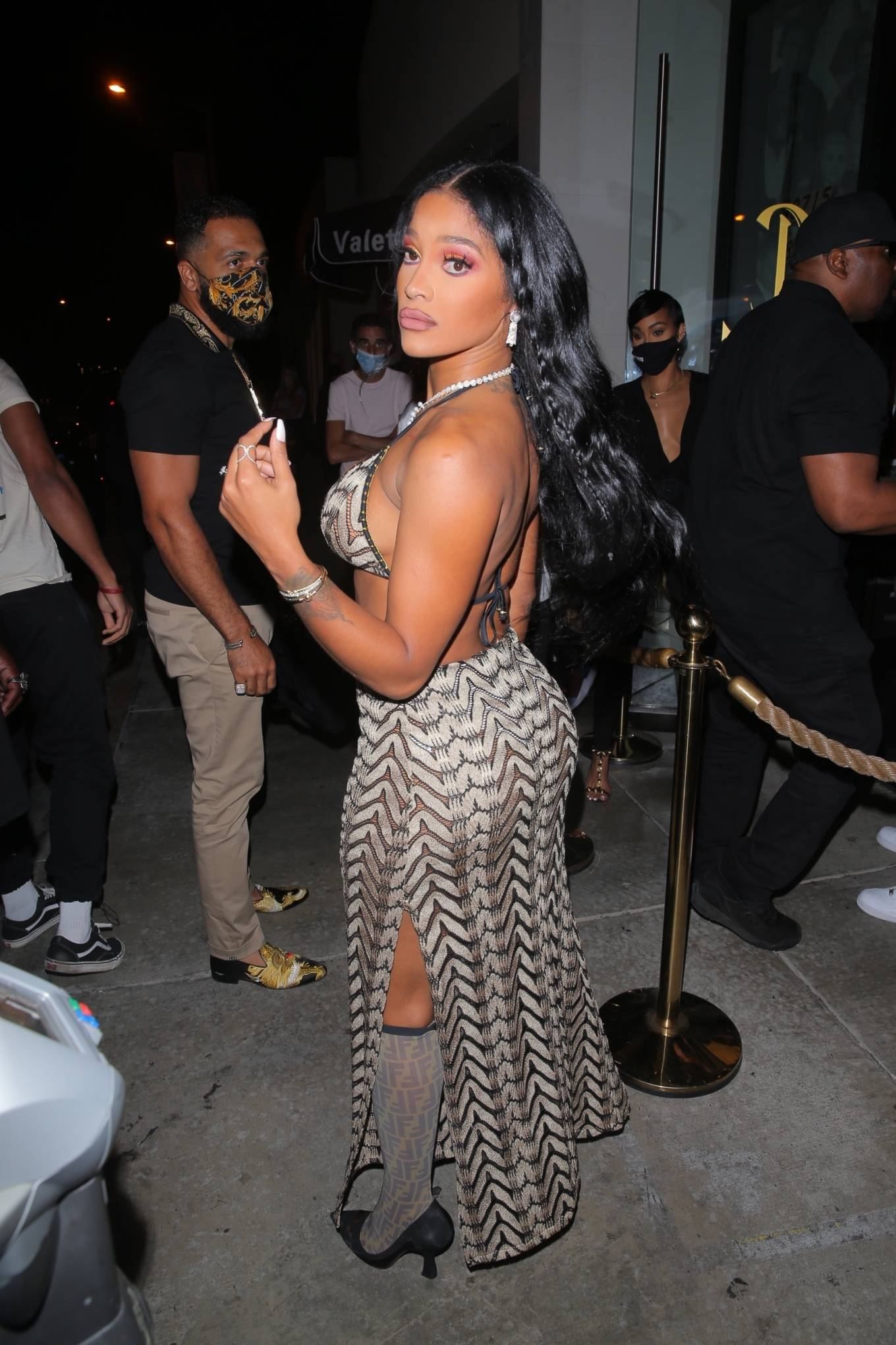Joseline Hernandez 2021 : Joseline Hernandez – Seen at dinner with husband DJ Ballistic at Catch LA in West Hollywood-05