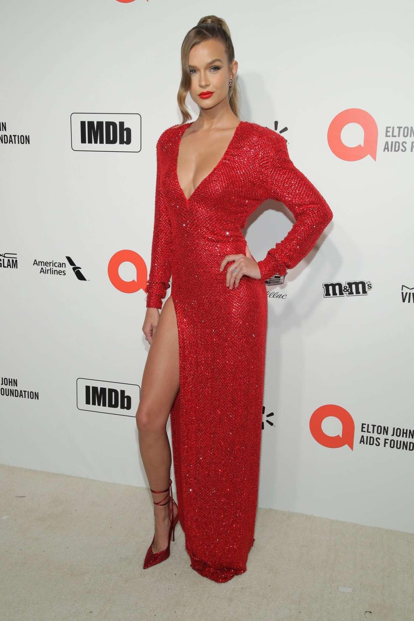 Josephine Skriver 2020 : Josephine Skriver – 2020 Elton John AIDS Foundation Oscar Viewing Party-10