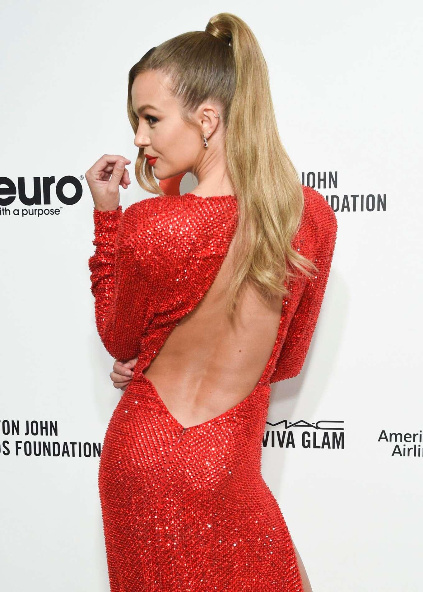 Josephine Skriver 2020 : Josephine Skriver – 2020 Elton John AIDS Foundation Oscar Viewing Party-20