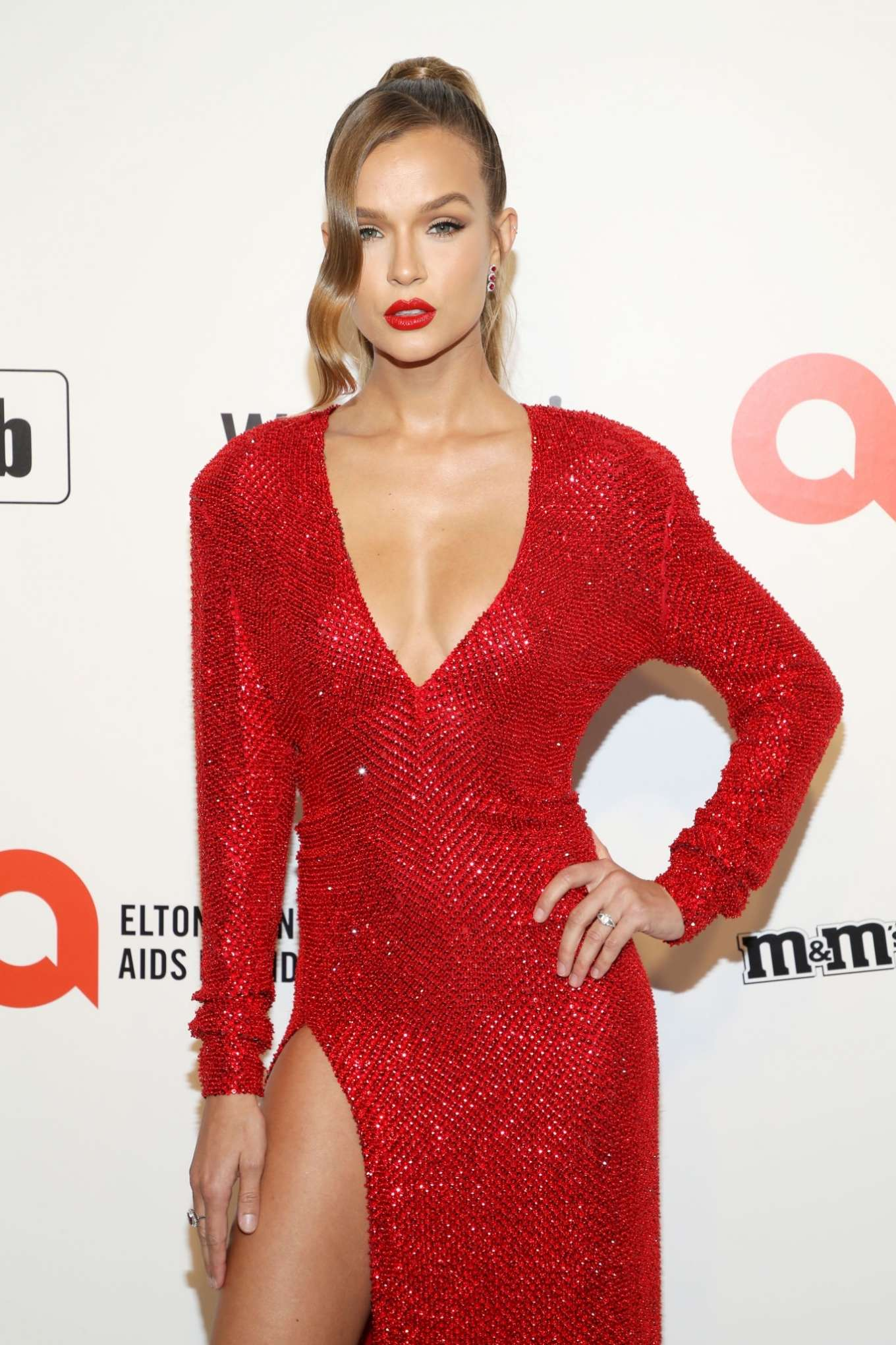 Josephine Skriver - 2020 Elton John AIDS Foundation Oscar Viewing Party in LA