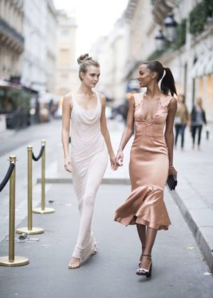 Josephine Skriver and Jasmine Tookes - Pictured at the Ritz Hotel in Paris