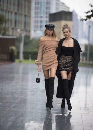 Josephine Skriver and Romee Strijd out in Shanghai
