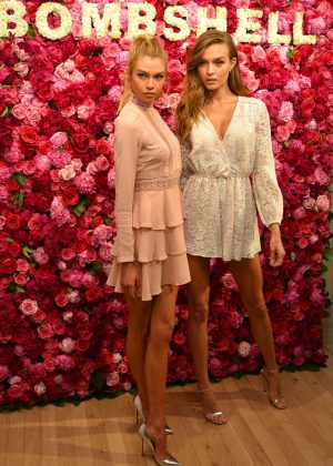 Josephine Skriver and Stella Maxwell - VS Angels celebrate the 'Bombshell' Fragrance in NY