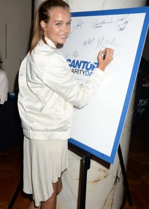 Josephine Skriver at a Charity Day to Commemorate 9/11 in New York