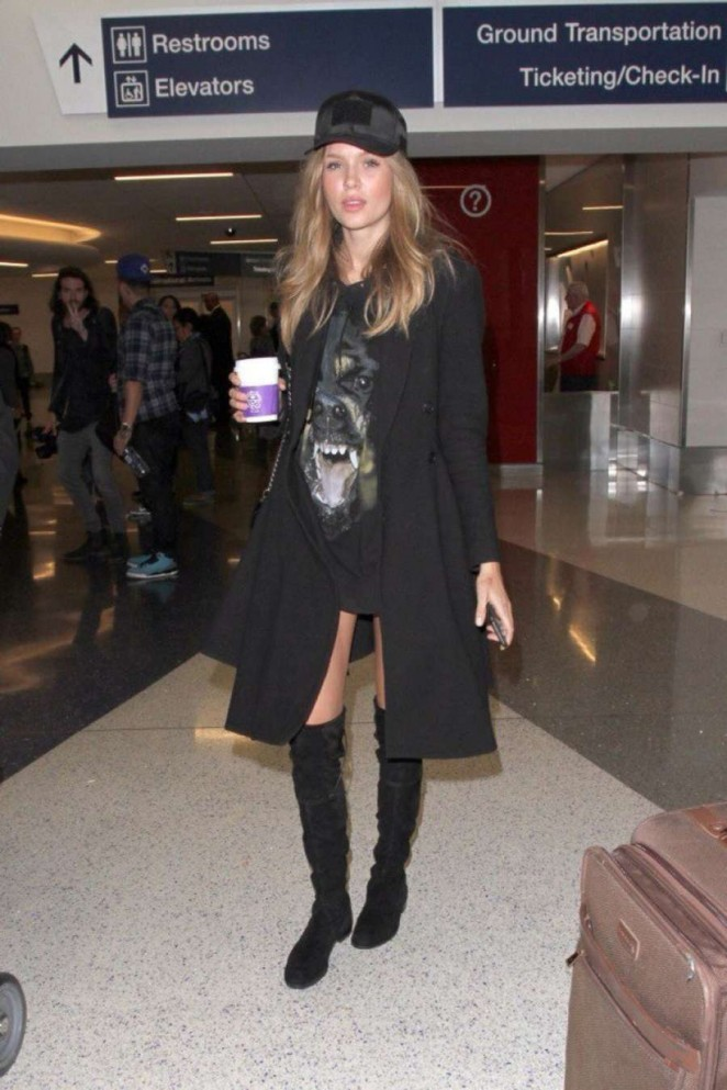 Josephine Skriver at LAX Airport in Los Angeles