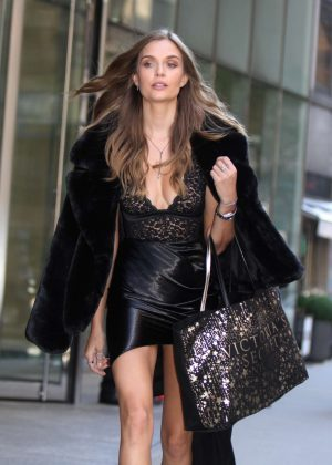 Josephine Skriver at Victoria's Secret offices in New York City