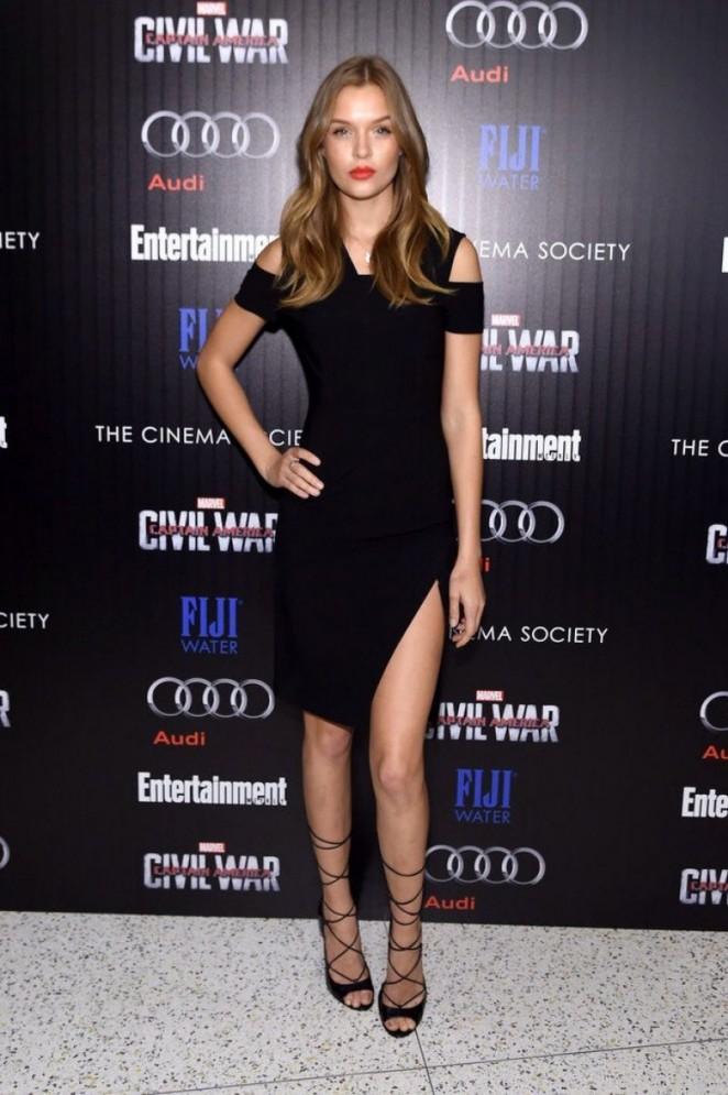 Josephine Skriver - 'Captain America: Civil War' Screening in New York City