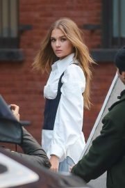 Josephine Skriver - Doing a photoshoot in the streets of New York City