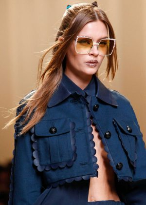 Josephine Skriver - Fendi Show SS 2017 at Milan Fashion Week in Italy