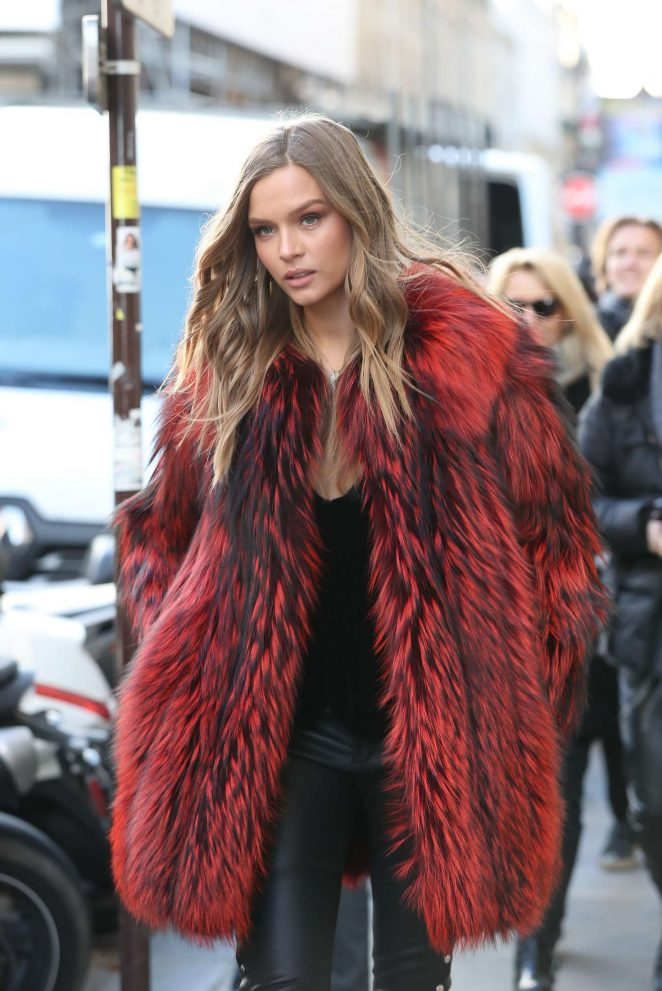 Josephine Skriver - Leaving the Mandarin Hotel in Paris