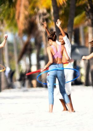 Josephine Skriver, Martha Hunt, Taylor Hill and Jasmine Tookes - Photoshoot on the beach in Miami