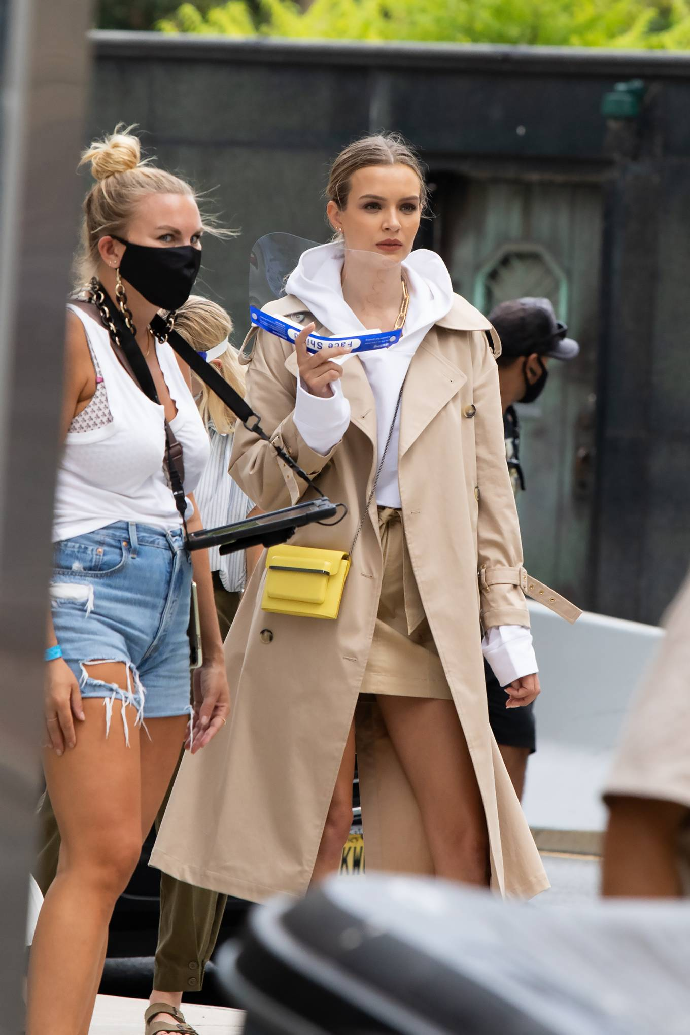 Josephine Skriver - Maybelline Commercial photoshoot in NYC