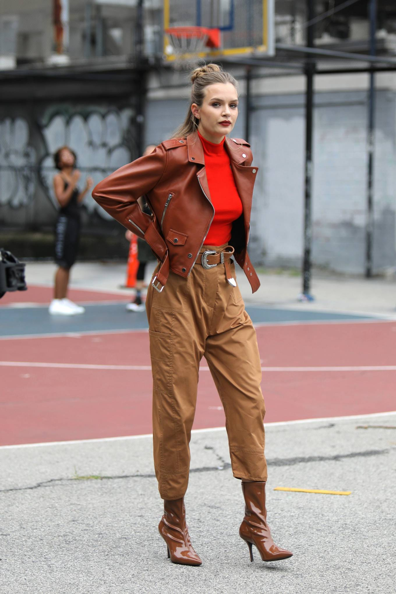 Josephine Skriver - Maybelline Photoshoot candids in NYC