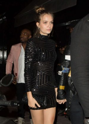 Josephine Skriver Night Out in Paris