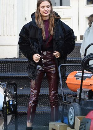 Josephine Skriver  -On the set of a photoshoot for Maybelline in New York