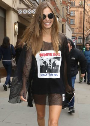 Josephine Skriver - Seen at the Tommy Hilfiger shop in London