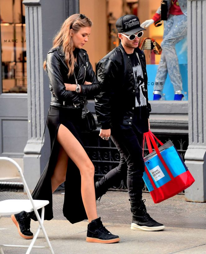 Josephine Skriver with boyfriend out in New York