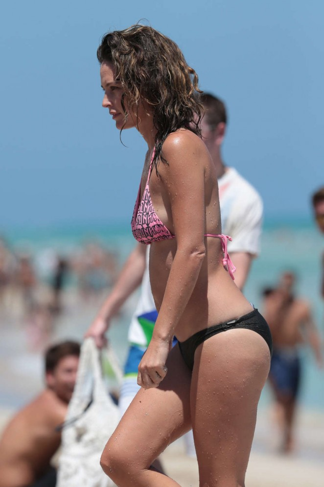 Josie Maran in Bikini on Miami Beach