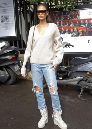 Jourdan Dunn - Arrives at Miu Miu Fashion Show 2016 in Paris