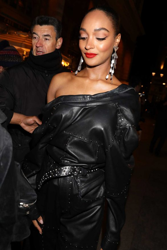 Jourdan Dunn - Arriving at Isabel Marant Show in Paris
