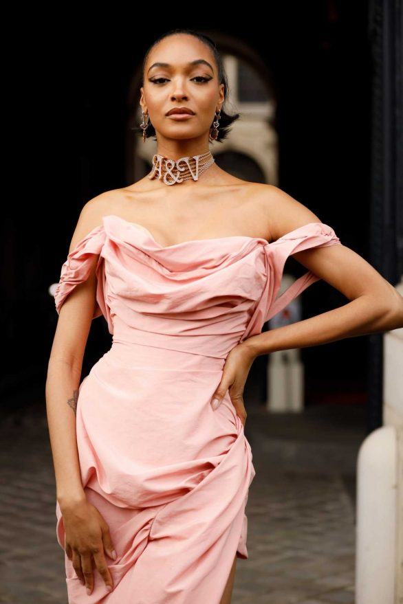 Jourdan Dunn - Arriving at the Vivienne Westwood Fashion Show in Paris