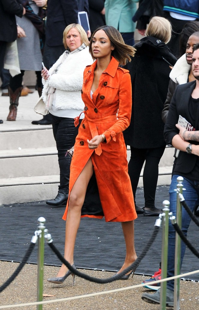 Jourdan Dunn - Burberry Prorsum Fashion Show in London