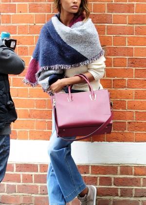 Jourdan Dunn - On set of a photoshoot in London