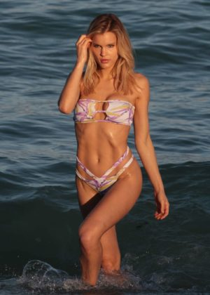 Joy Corrigan - Bikini Photoshoot on a beach in Miami adds