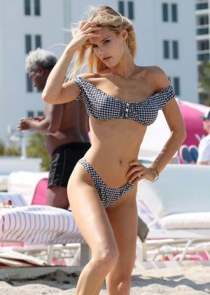 Joy Corrigan in Bikini at the beach in Miami