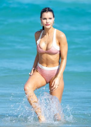 Joy Corrigan in Bikini on Miami Beach