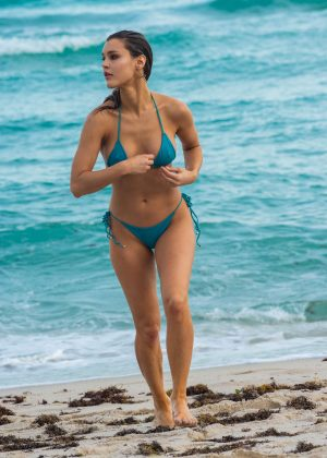 Joy Corrigan in Bikini on the beach in Miami