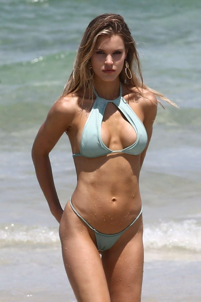 Joy Corrigan in Bikini - Photoshoot on the beach in Miami