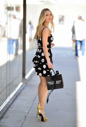 Joy Corrigan - Looks chic in CC summer dress in Beverly Hills