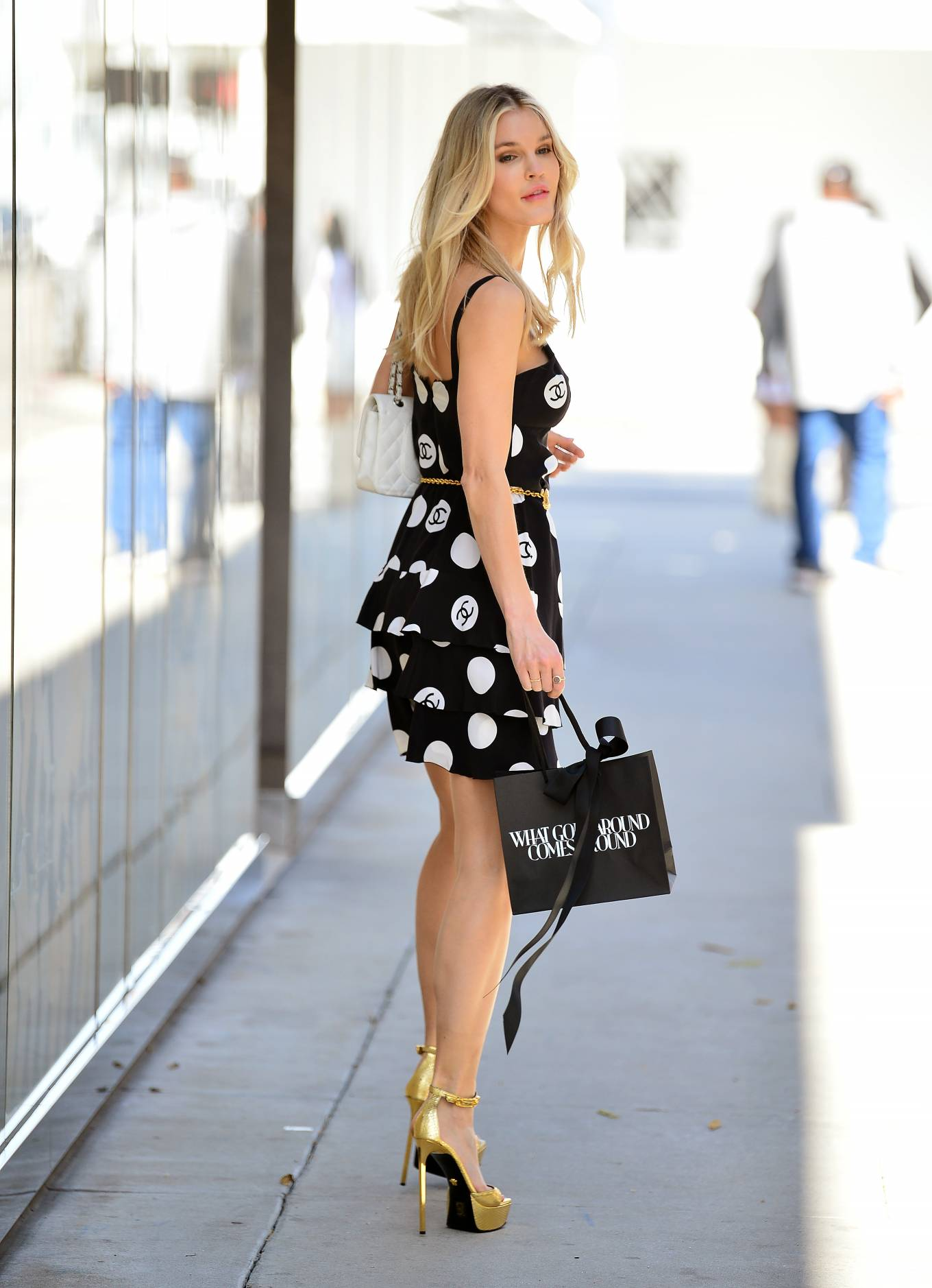 Joy Corrigan - Looks chic in CC summer dress in Beverly Hills