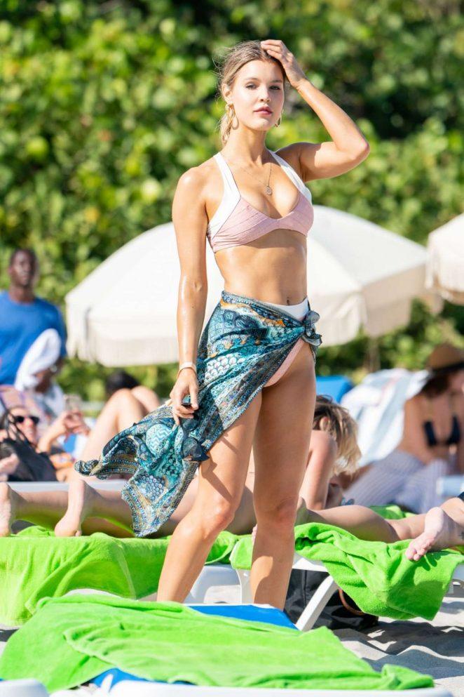 Joy Corringan - Wearing bikni on the beach In Miami
