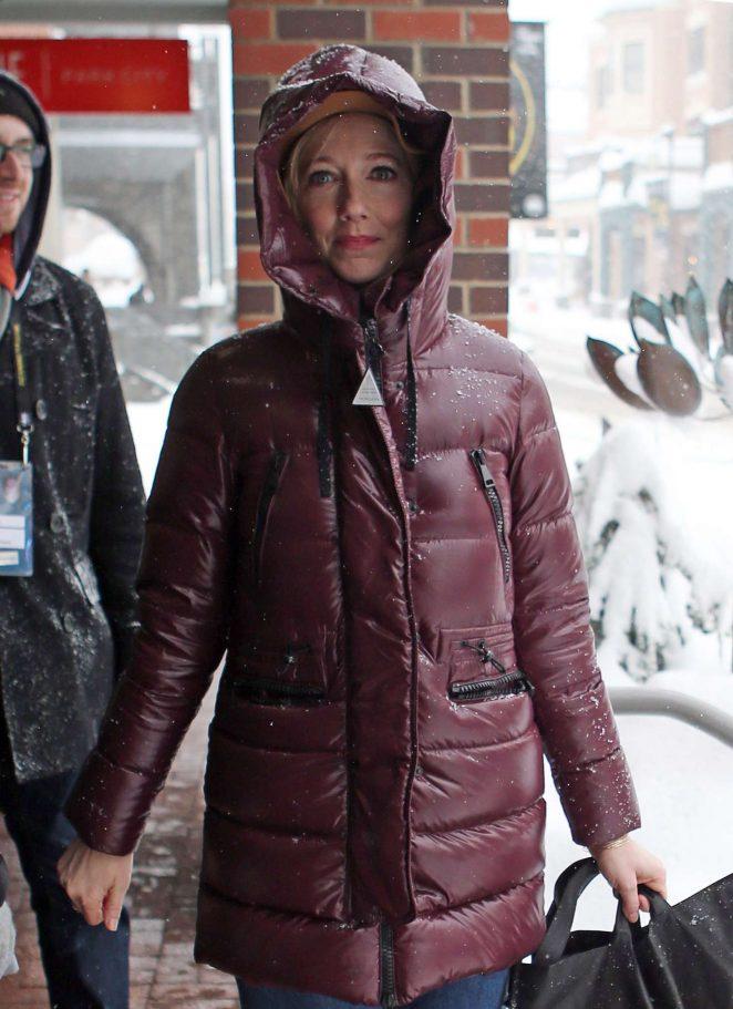 Judy Greer out at 2017 Sundance Film Festival in Utah