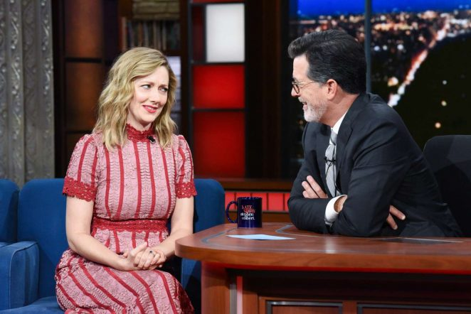 Judy Greer - Visits The Late Show With Stephen Colbert in NY