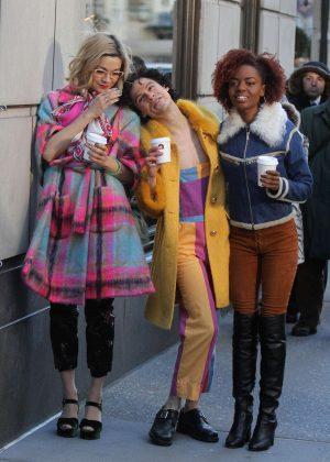 Julia Chan - On 'Katy Keene' Set Filming in New York