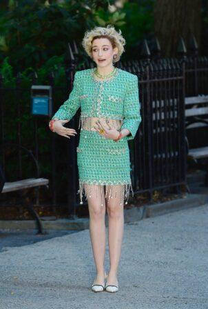 Julia Garner - Spotted Filming in New York City
