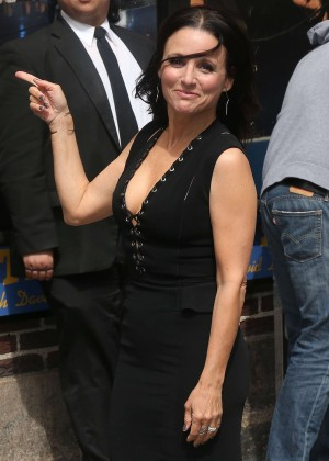 Julia Louis Dreyfus - Arriving at The 'Late Show with David Letterman' in NYC