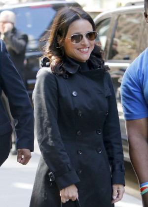 Julia Louis Dreyfus at Sirius Radio Building in New York
