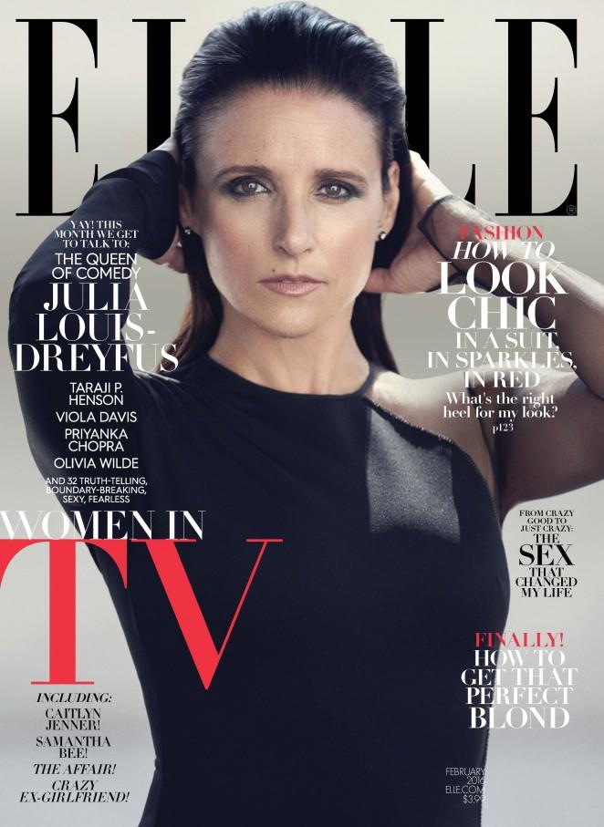 Julia Louis Dreyfus - Elle Magazine Cover (February 2016)