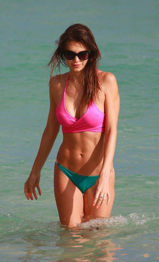 Julia Pereira in Bikini at the beach in Miami