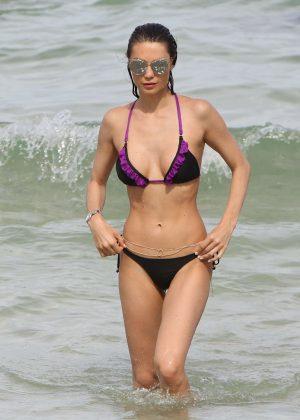 Julia Pereira in Bikini on Miami Beach