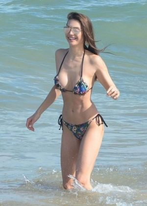 Julia Pereira in Bikini on the beach in Bahia