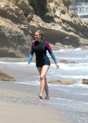 Julia Roberts at the beach in Malibu