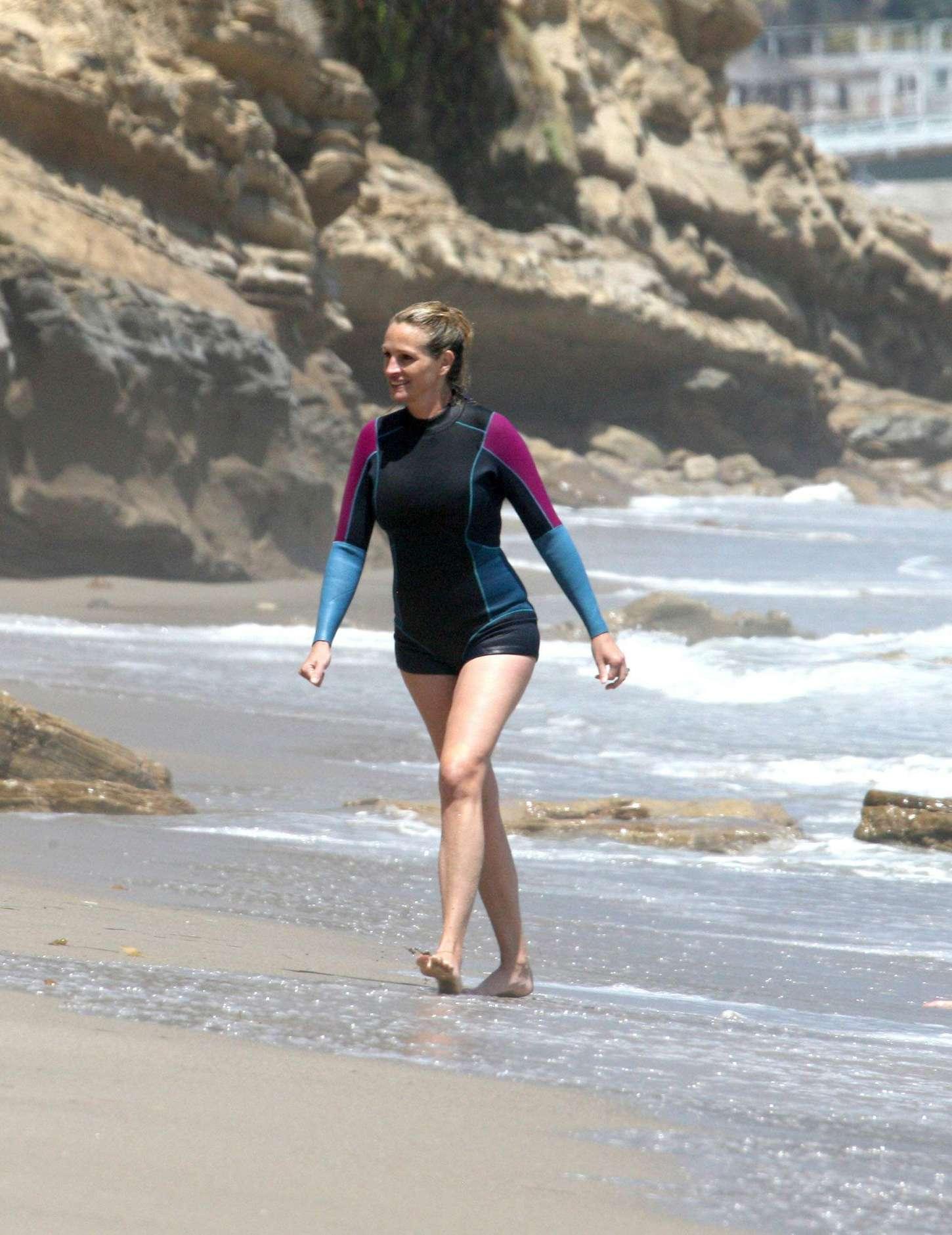 Julia Roberts at the beach in Malibu
