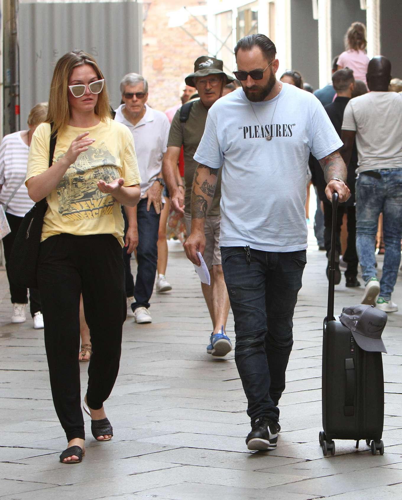 Julia Stiles 2019 : Julia Stiles and her husband Preston J. Cook – Spotted in Venice -02