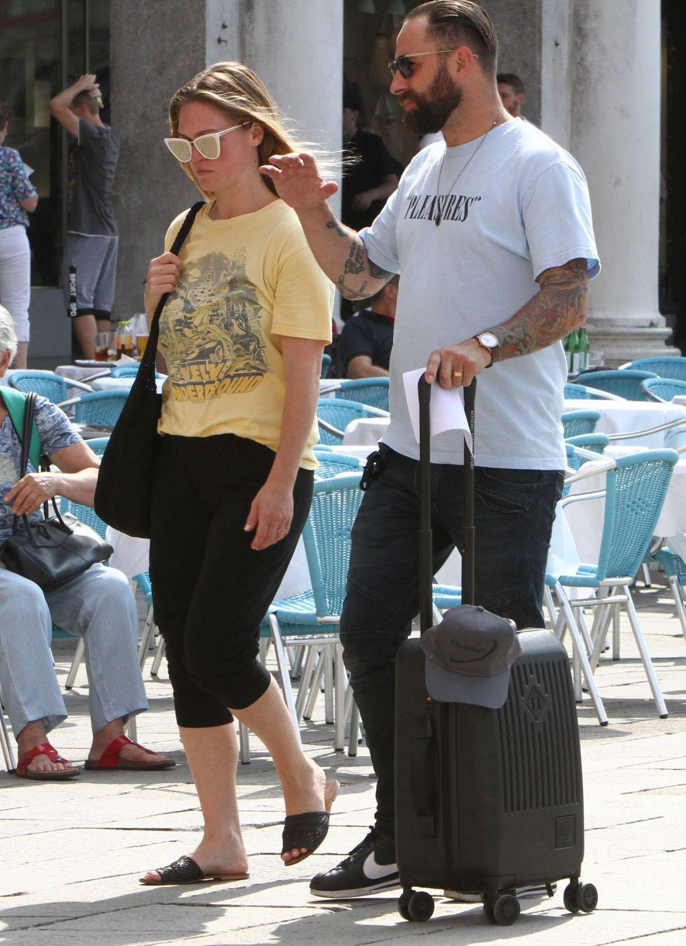 Julia Stiles 2019 : Julia Stiles and her husband Preston J. Cook – Spotted in Venice -06