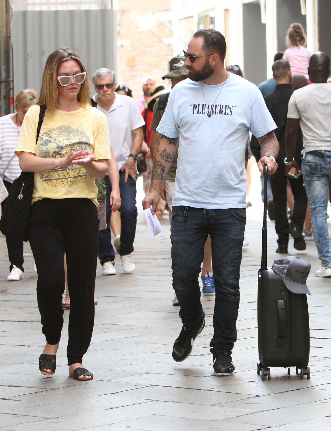 Julia Stiles 2019 : Julia Stiles and her husband Preston J. Cook – Spotted in Venice -07